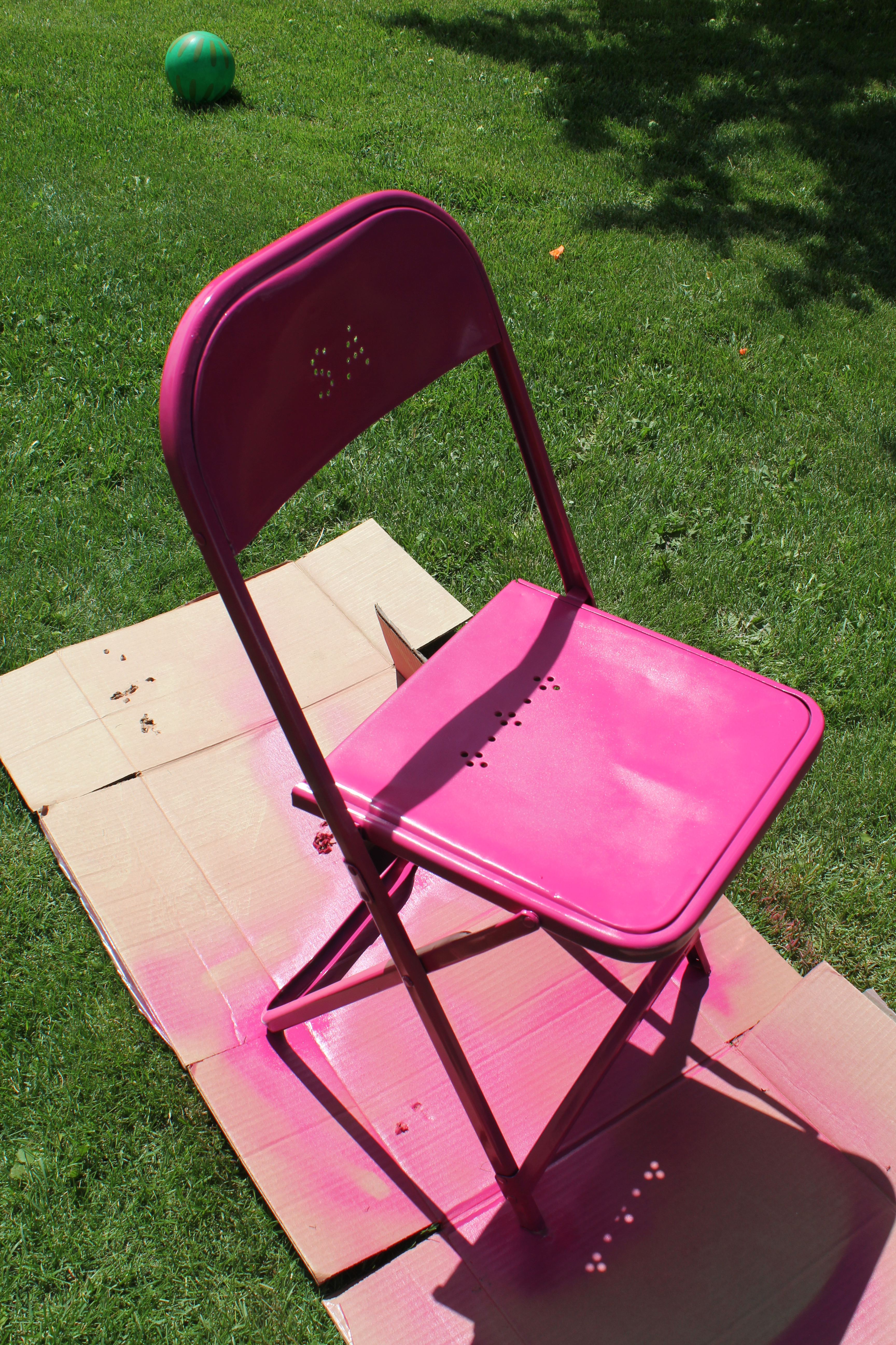 Fun Colorful Metal Chair Makeover Joy In Our Home