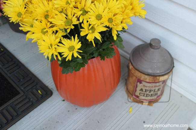 Pumpkin Planter from Joy in our Home  |  25 Creative DIY Pumpkins at www.andersonandgrant.com