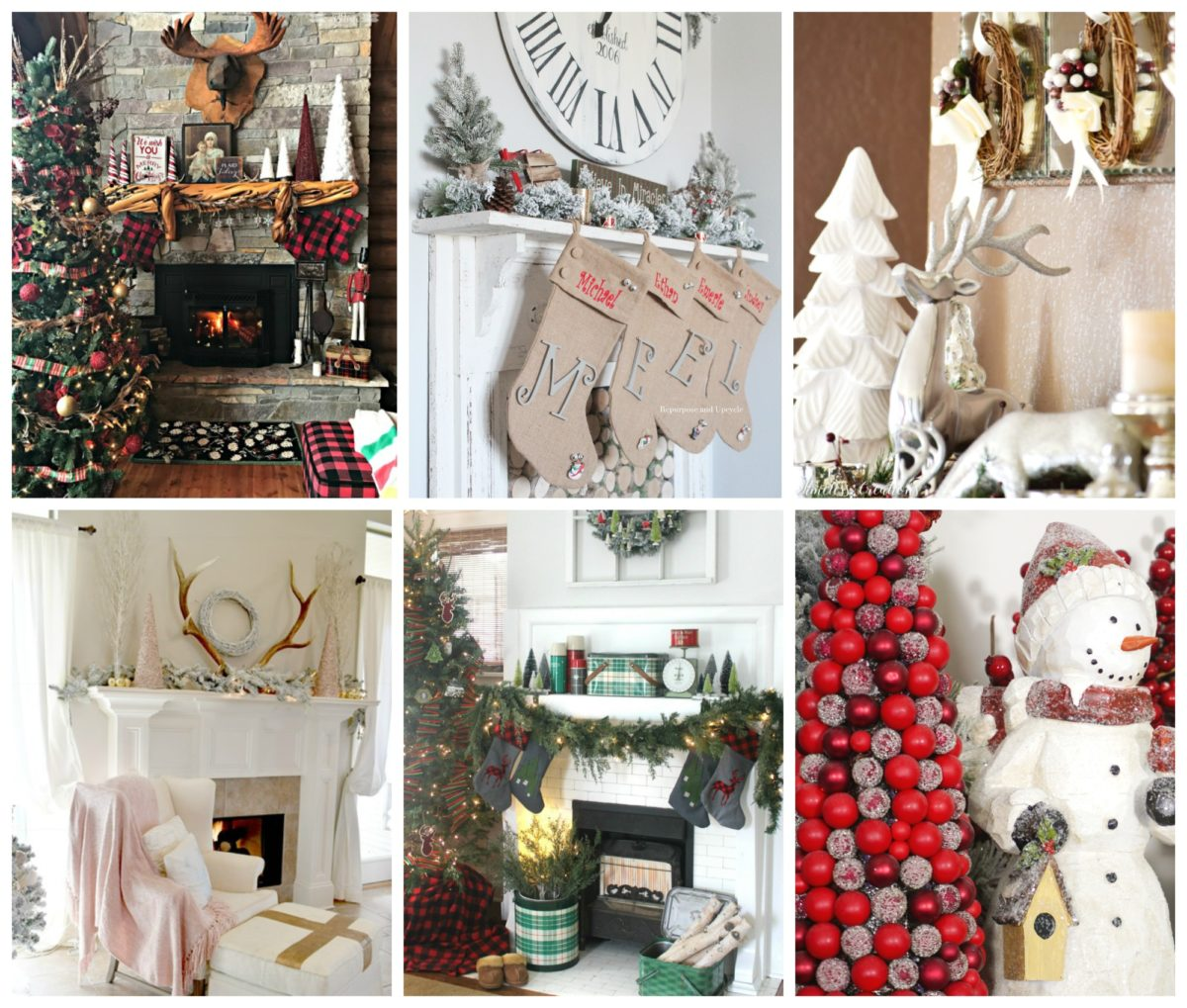 Decorating the Mantle for the Holidays - A Christmas Festival Blog Hop 17